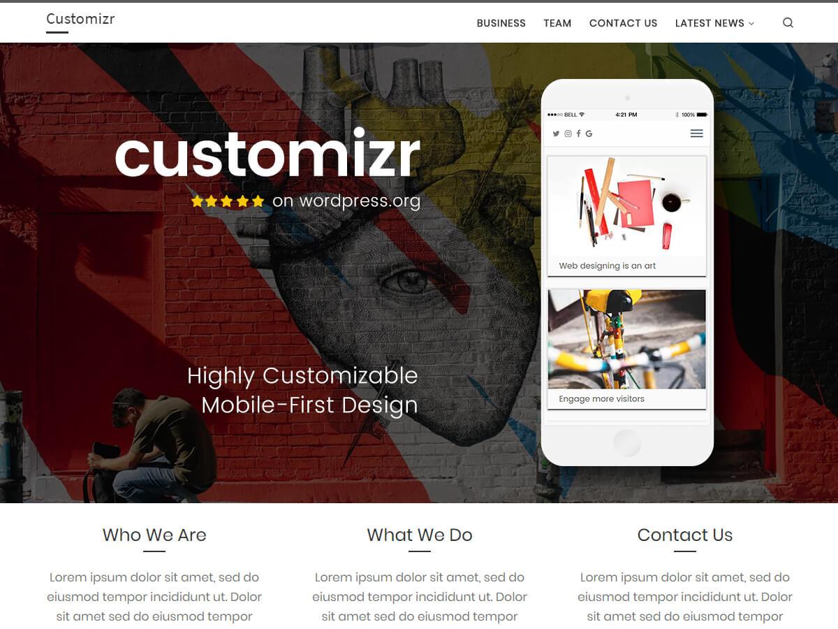 Customizr 是一個清新交互的主題